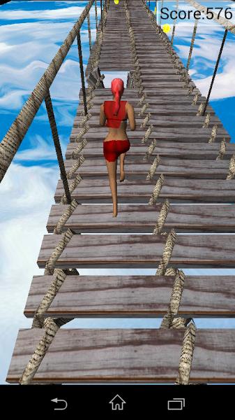 Бегущая по мосту. Скриншот