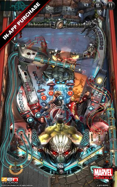 Marvel Pinball. Скриншот
