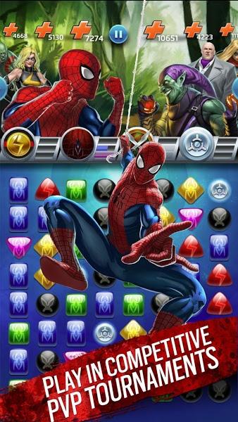 Marvel Puzzle Quest. Скриншот