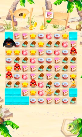 Angry Birds Match Screen 1
