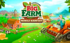 Big Farm Mobile Harvest Logo