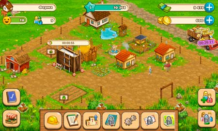 Big Farm Mobile Harvest Screen 1